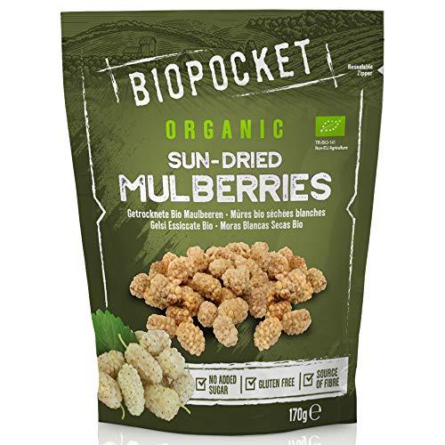 Biopocket Naturkost Getrocknete Maulbeeren, 5 x 170 g