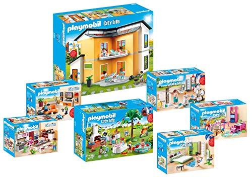 PLAYMOBIL 9266_9272 Casa Moderna Set 1 - 7 juegos: 9266 + 9267 + 9268 + 9269 + 9270 + 9271 + 9272