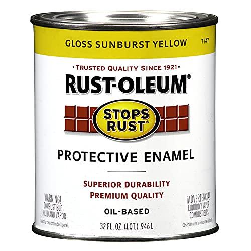 Rust-Oleum 7747502 Stops Rust Brush On Paint, 32 Fl Oz (Pack of 1), Gloss...
