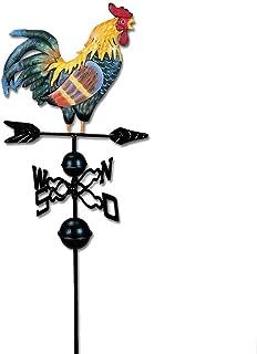 120cm Weinlese-Hahn-Wetterfahne-Metalleisen-Windgeschwindigkeits-Spinner-Garten