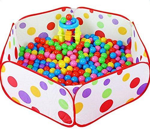 DaoRier 1 Pcs Portable Piscine à Balles pour Bébé Enfant Tente de Jeu Piscine Boules Océan Ball Pool (90 * 45 * 32cm)