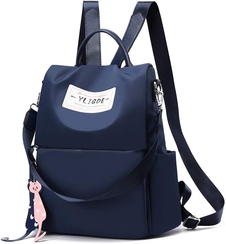 Women's Backpack Backpack Women's Bag Oxford Canvas Nylon Backpack, blueee