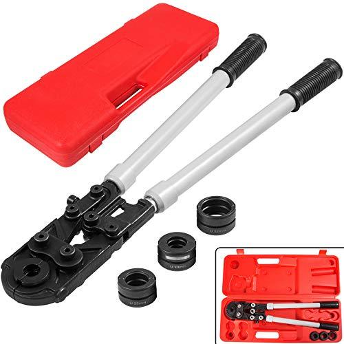 Mophorn Alicates para prensar Alicates para prensar tubos en U para PEX/cobre/tubos compuestos U16-32