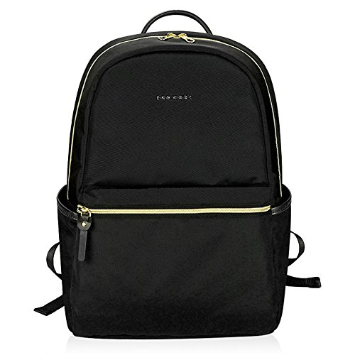 KROSER Laptop Backpack 15.6 Inch Upgraded Fashion School Backpack Water-Repellent Cumpter Backpack Laptop Bag Nylon Casual Daypack with USB Charging Port for Travel/Business/College/Women/Men-Black
