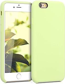 kwmobile Funda Compatible con Apple iPhone 6 / 6S - Carcasa de TPU para móvil - Cover Trasero en Verde Pistacho
