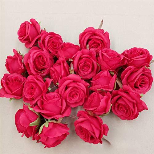 hhkhhgjo 10Pcs Tête De Fleurs Artificielles De Mariage 9Cm pour La Décoration De Mariage Guirlande Boîte Cadeau Guirlande Florale Partie Design en Soie Fleurs