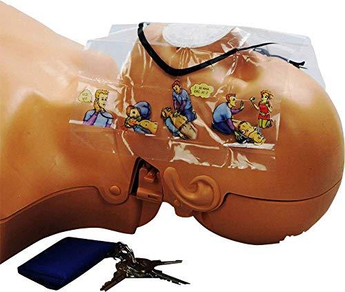 MEDX5 AED-Z-NBT Notfall-Beatmungsmaske mit Handschuhen Transparent