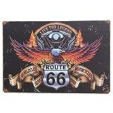 MARQUISE & LOREAN Ruta 66 Decoración Pared | Placa Decorativa Vintage...