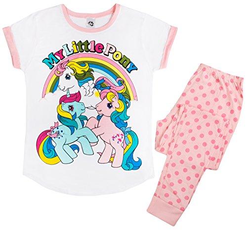 Lora Dora Damen Schlafanzug mit Charakteren Gr. Small, Vintage My Little Pony - 3 Ponys