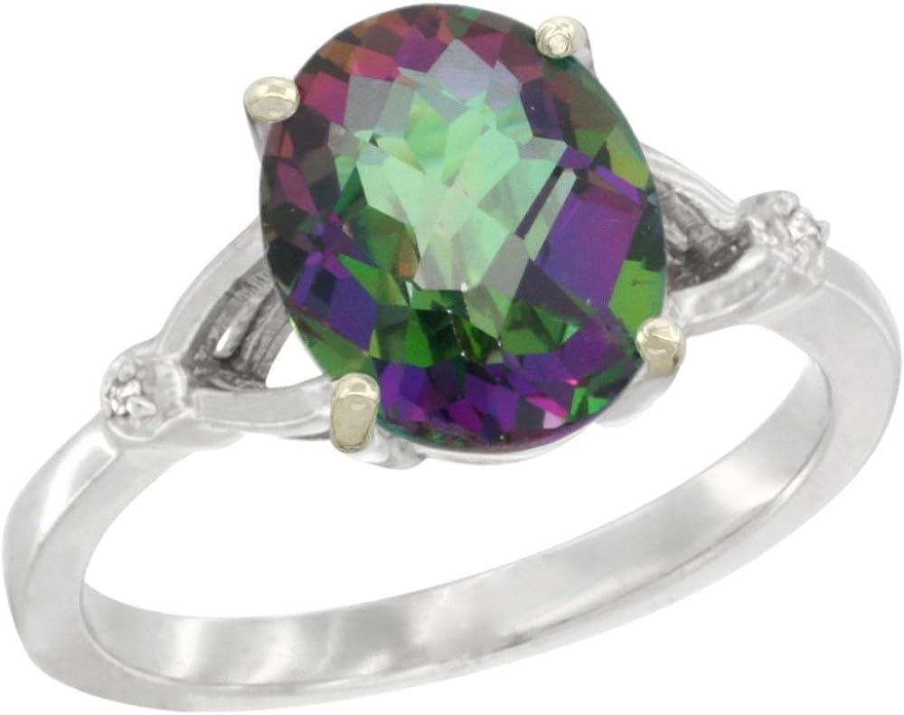 Silver 35% OFF City Max 67% OFF Jewelry 10K White Diamond Topaz Mystic Gold Natural