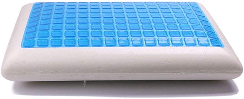 MqbY Back Massage Pillow Ergonomic Design Slow Rebound Summer Cool Gel Bedding Pillow Breathable Memory Foam Massage Neck Pain Relief Pillow