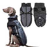 Poseca - Cappotti invernali per cani, con imbracatura staccabile, taglia grande, cappotti invernali, labrador, impermeabili, per cani di taglia grande, media e piccola