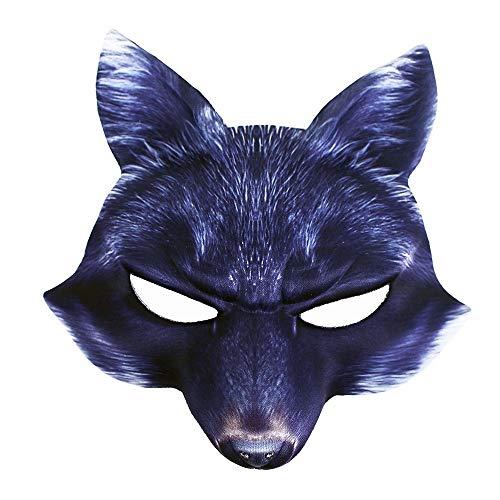 Rappa Tolle, lebensechte Tiermaske 3D Faschingsmaske Böser Wolf für Kinder ab 3 Jahren