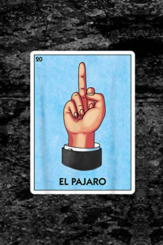 Self Care Acts Planner   6 X 9 Inches   El Pajaro Flipping Bird Finger Mexican