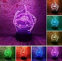 Tatapai 3DナイトライトLEDイリュージョンランプフルグラデーション装飾Xm7色Usbブラックベース子供カップル家族の寝室リビングルーム誕生日ホリデーギフトランプ