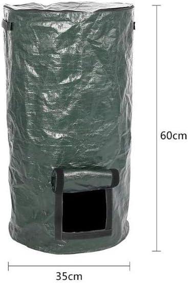 faltbarer K/üchenabfall-Entsorgungskomposter f/ür Garten /ökologischer Bio-Kompost-G/ärungsbeutel mit Rei/ßverschluss /& Doppelgriffen Stecto PE-Kompostbeutel