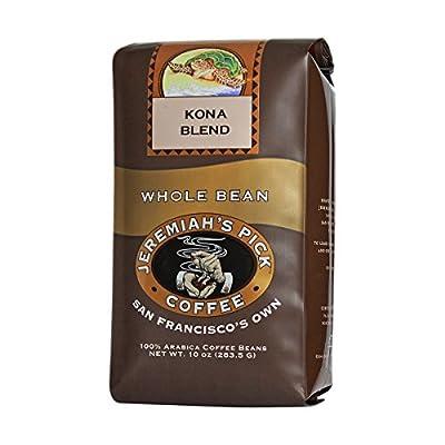 Jeremiah's Pick Coffee Kona Blend, Light Roast Whole Bean Coffee, 10 Ounce Bag