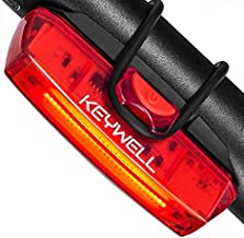 Bike Tail Light USB Rechargeable - Super Bright LED Rear Bicycle Light Clip On as Red Back Taillight with 6 Lighting Modes for Road Mountain Cycling Safety Accessories (Red)
