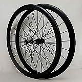 DL Aleación de Aluminio llanta de Doble Pared Altura del círculo 40MM para Bicicleta de Carretera Ultra-Ligeras,Black