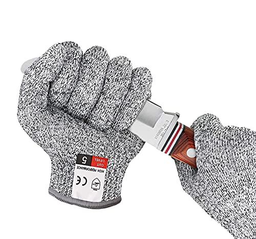 BINXIRUI Guantes de tallar para niños, guantes de trabajo para niños – sierra, guantes de jardinería Bosch para cuchillo infantil, certificado EN 388, adecuados para niños de 3 a 5 años
