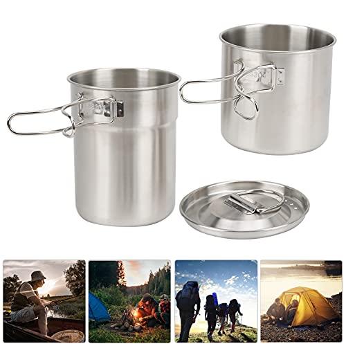 Gaeirt Taza de Camping, Ideal para Uso en Interiores o Exteriores Taza de Acero Inoxidable Taza Plegable para Cocina