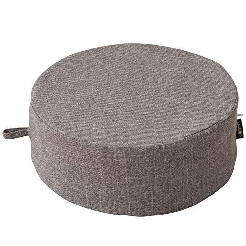 エムール クッション 座椅子 座布団 正座椅子 あぐら座椅子 高反発 ウレタン 円形 小サイズ 直径40cm ライトグレー