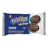 Festival - RECREO - Galletas de Chocolate Rellenas con Crema Sabor a Vainillas - 10 Paquetes de 4 Cookies - 360 Gramos Total