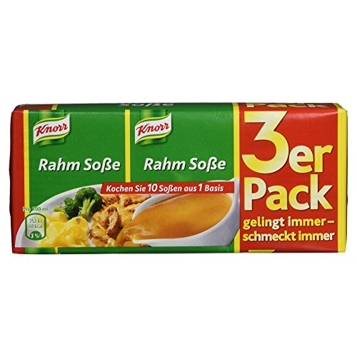Knorr Rahm Soße 3 x 250 ml, 15er-Pack