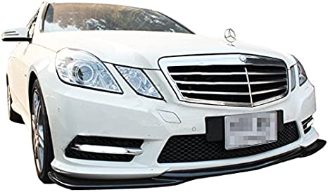 Fits 10-13 Benz E Class W212 Sedan Matte Black AMG Godhand Front Bumper Lip