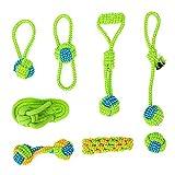 Cuerda de juguete para perros Shuibian, inteligencia, indestructible, 8 juguetes interactivos, beneficioso para la limpieza dental del perro, para cachorros pequeños/medianos