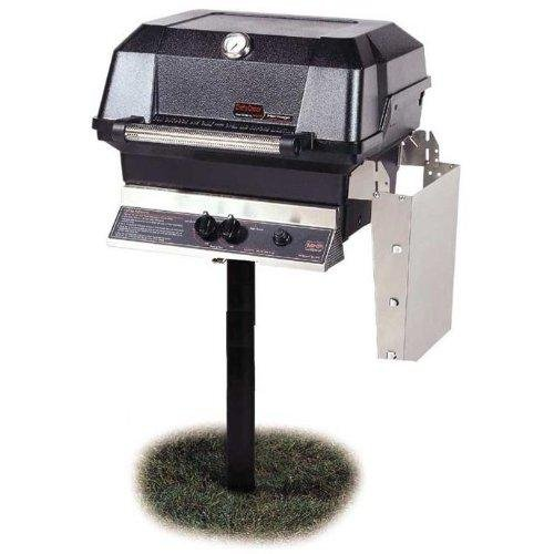 Mhp Gas Grills Jnr4dd Natural Gas Grill W/ Stainless Grids On In-ground Post