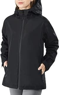 Women's Rain Coat, Lightweight Hooded Rain Hiking Jacket Waterproof Windproof Breathable Mountain Jacket Windbreaker