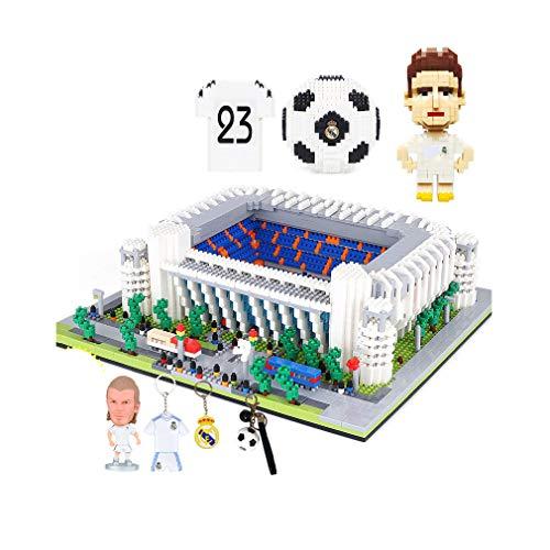 Kw-tool Rompecabezas Modelo del Estadio Real Madrid Bernabéu, DIY Puzzle Athletic Club 3D Puzzle Juguetes educativos para Adultos y niños 10.2