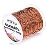 20 Gauge Jewelry Wire, Anezus Craft Wire Tarnish Resistant Copper Beading Wire for Jewelry Making Supplies and Crafting (Copper)