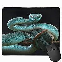 マウスパッド 青蛇 美しいスネーク Mousepad ミニ 小さい おしゃれ 耐久性が良 滑り止めゴム底 表面 防水 コンピューターオフィス ゲーミング 25 x 30cm