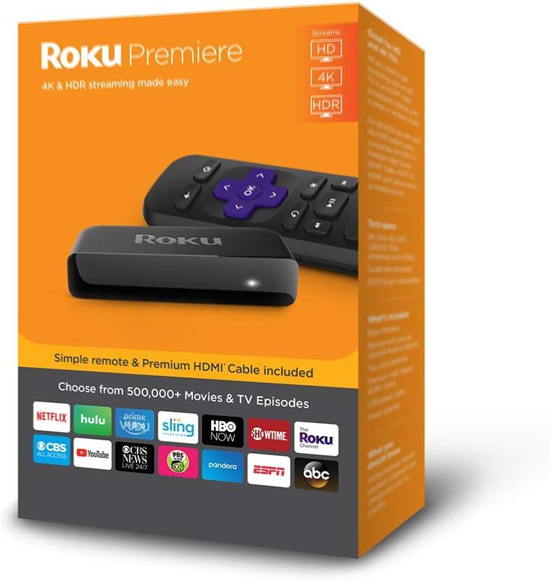 Roku 3920X Premiere Streaming Player New 2018