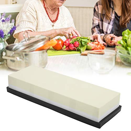 Piedra para afilar cuchillos, grano 1000 + 6000 piedras de afilar de doble cara, piedra de agua afilador de cuchillos de ángulo fijo para cocina