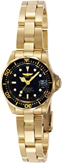 ساعة Invicta Women's 8943 Pro Diver Collection ذهبية اللون
