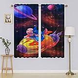 The Adventures of Lilo & Stitch panel de cortina con ojales de eficiencia energética, cortina de oscurecimiento de la habitación, cortina de ahorro energético para dormitorio de 42 x 54 pulgadas