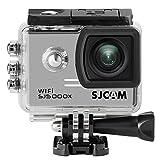 SJCAM SJ5000X Elite 4K Action Camera WiFi Cam Waterproof Underwater Camera- HD 12MP/Gyro Stabilization/2.0 LCD Screen (Waterproof Case & Accessories Included) -Silver