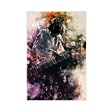 Poster rétro sur toile Jean-Michel Jarre pour chambre à coucher, décoration sportive, paysage, bureau, décoration sans cadre : 40 x 60 cm