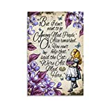 Alice im Wunderland Poster, dekoratives Gemälde, Leinwand,