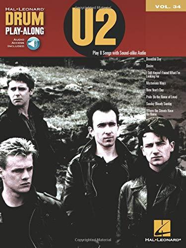 Drum Play-Along Volume 34: U2 (Book/CD) [Lingua inglese]: Drum Play-Along Volume 24