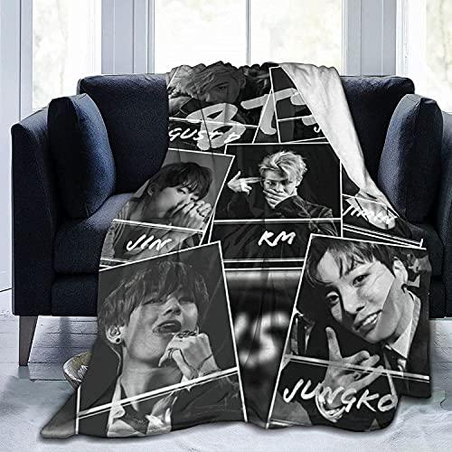BTS - Manta de cama de Kim Seok Jin miembro de la Comisión, manta de franela de lujo, idea de regalo, póster para fans femeninos (BTS2, 130 x 150 cm)