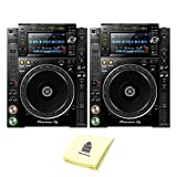 "Pioneer DJ CDJ-2000NXS2 Professional Multi Player DJ CD Player or Media Player (PAIR) with 7"" Multicolor Touchscreen, Platter Controlsm & Complete Rekordbox Integration BUNDLE with Zorro Sounds Cloth"