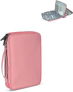Viker Double-Layer Travel Tablet Shoulder Bag, Pink