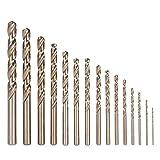 15 unids/set juego de brocas HSS de cobalto M35, broca helicoidal de 1,5-10mm, vástago recto, ferramentas, herramienta de perforación de metal para trabajo en madera de calidad