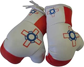 Flag Mini Small Boxing Gloves to Hang Over Car Automobile Mirror – Asia & Africa (1-Pack, Country: Malta)