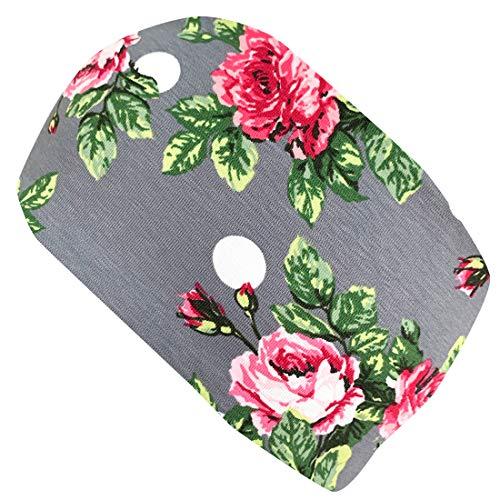 Wollhuhn Cinta para el pelo elástica romántica para niñas y mujeres, color gris/rosa 20204030