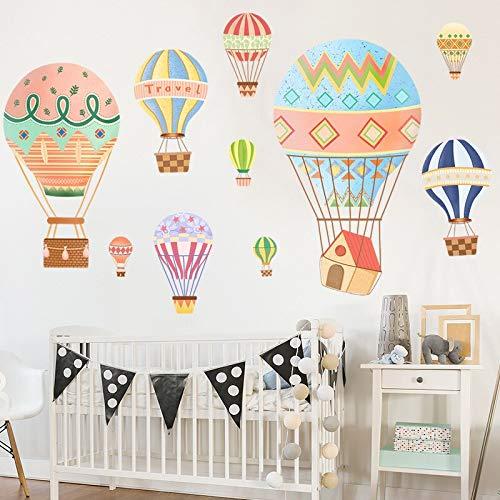 keletop Neue Bunte Cartoon Heißluftballon Kinderzimmer Schlafzimmer Wohnzimmer Schlafzimmer Wandaufkleber Babyzimmer Wanddekoration DIY Abziehbilder